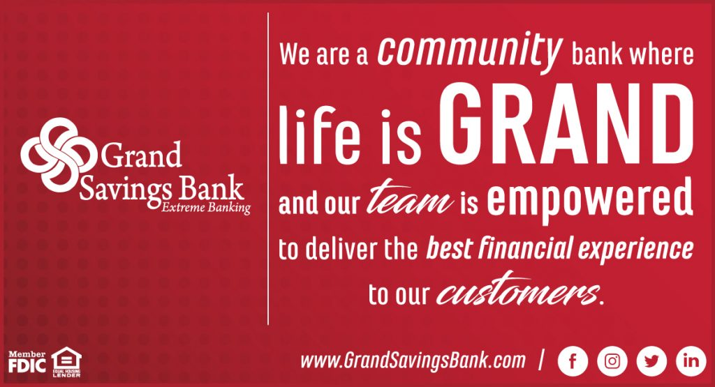 Grand Savings Bank Unveils New Mission Statement