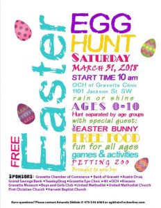 Easter Events in Our Region